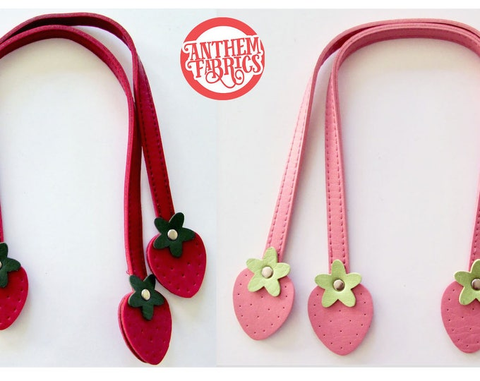 "Sweet Fruit Handles By Atsuko for Lecien Japan - Red Strawberry 16"" Medium - 1 pair - choose a color"