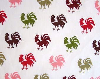 Alexander Henry - French Farm Kitchen - Rooster Granville AH6907A Cream, select a cut