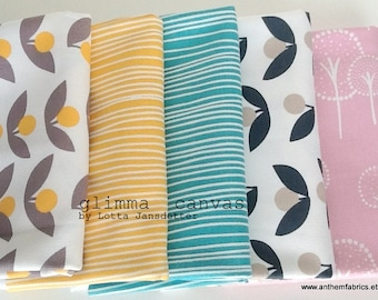 GLIMMA CANVAS home decor fabric by Lotta Jansdotter, modern scandinavian fabric