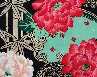 Alexander Henry Lady Yang AH5531Black Indochine Collection - 1 yard