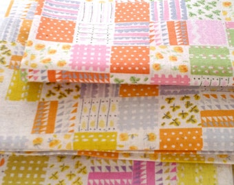 Heather Ross - Nursery Versery Cotton Linen - Penny Patch HR302,  3 fat quarters