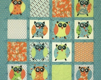 Sewing Pattern Little Owl Tied Quilt & bag by Barbara Brandeburg