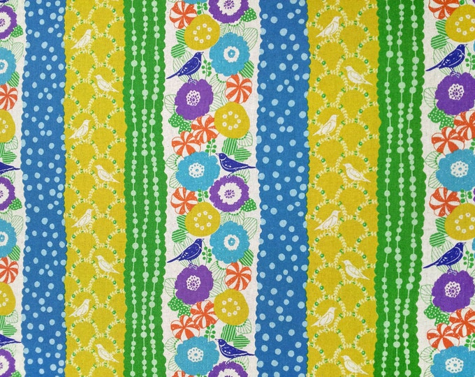 Echino by Etsuko Furuya - Cotton Linen Fabric - Peck EF701-B CITRUS, select a length