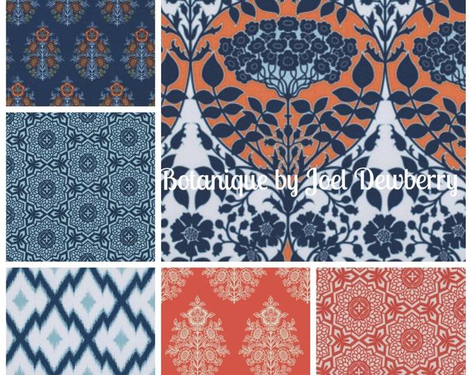 Botanique by Joel Dewberry - Fountain color way - quilting cotton fabric bundle - fat quarter set 6