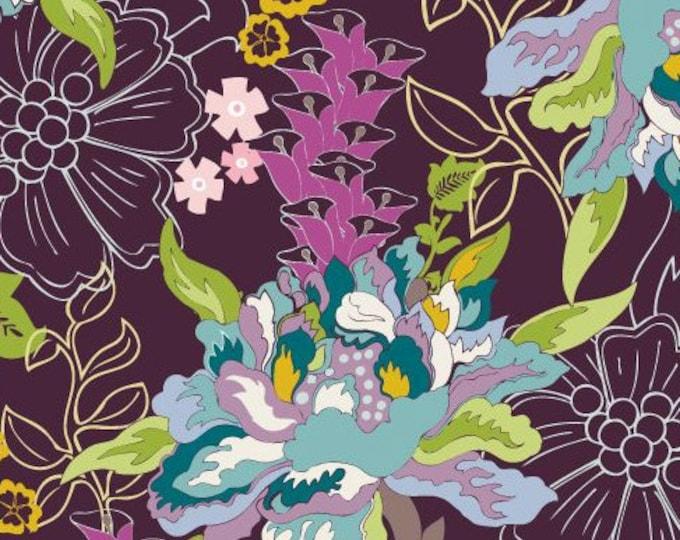 SALE Paradise - Twilight Pond PA-308 by the yard, Patricia Bravo Art Gallery Fabrics