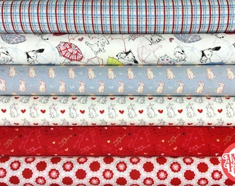 Love bundle - Lecien Fabric, half yard set, 6 cuts