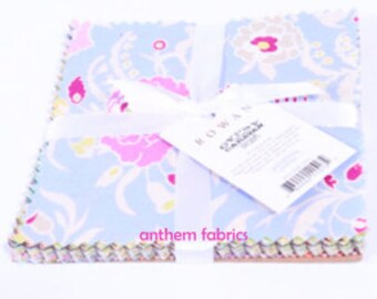 Amy Butler GYPSY CARAVAN 6-inch charm pack, floral dots stripes cotton quillting fabric squares - 30 pieces