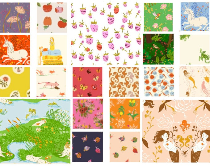 Heather Ross 20th Anniversary - Fat Quarters - 21 prints, in stock