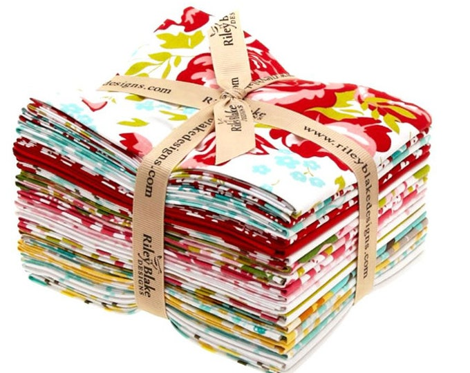 PrimRose Garden by Riley Blake Designs - quilting fabric bundle - 18 Fat Quarters