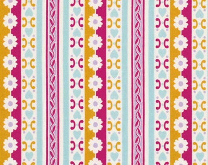 Jennifer Paganelli Circa - Floral Stripes Bradlee JP074 Rose