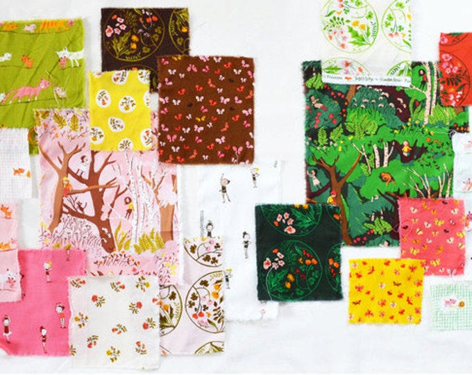Tiger Lily by Heather Ross, Quilting cotton fabric - Fat Quarters 11-piece or 12-piece bundle