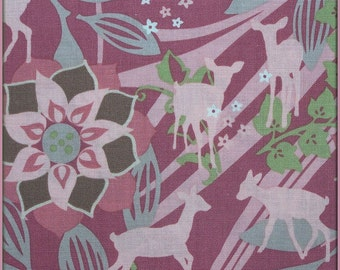 Timeless Treasures Fabric by Alice Kennedy - Meadow Deer in Primrose TT4344 - by the yard