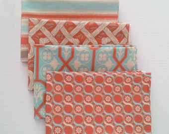 Deer Valley fabrics bundle - Joel Dewberry - Azure palette, 4 fat quarters