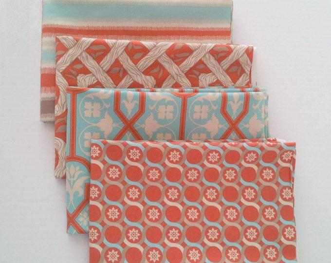 Deer Valley fabrics bundle - Joel Dewberry - Azure palette, 4 fat quarters