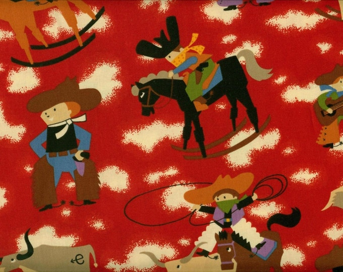 Alexander Henry - Bucky the Bucking Bronco AH7113B Red, Santa Fe western cowboy horses rodeo
