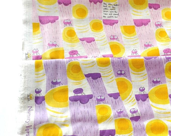 Heather Ross - Nursery Versery Cotton Linen - Itsy Bitsy Spider HR301,  2 fat quarters