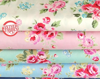 Oxford Canvas Fabric Flower Sugar Maison by Lecien - Rose Floral Bouquet  L40563 ,select 1/2 yard of your choice