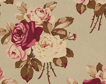 HOME DECOR Petal by Tanya Whelan - Large Antique Roses HDTW055 Parchment - 1 yard