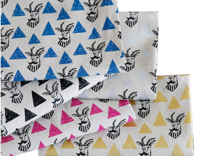 Echino Fabric Impala Triangles EF402, Cotton Linen by Etsuko Furuya - Choose half yard