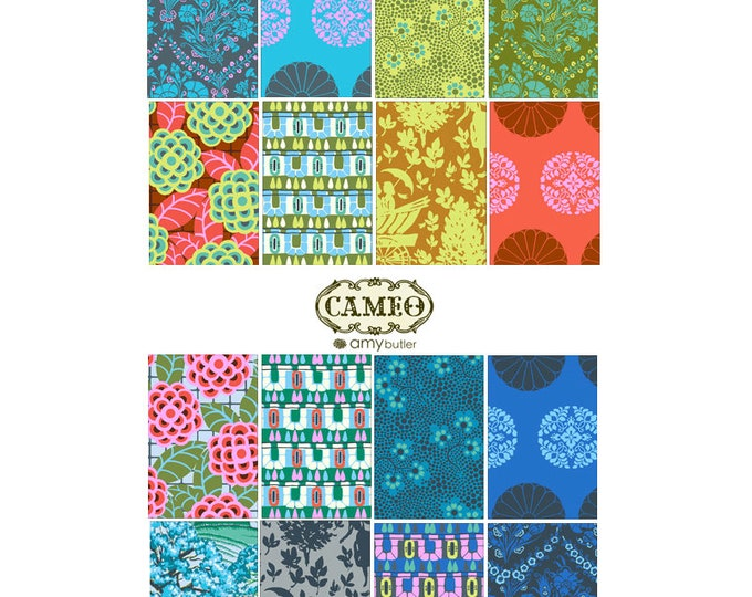 Amy Butler Cameo - Fabric bundle - 16 fat quarters