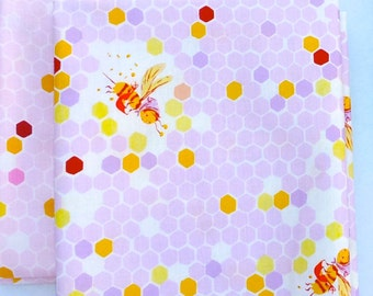 Briar Rose Cotton Fabric by Heather Ross, Hex Bee Fat quarter set of 2