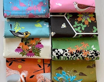 Charley Harper Summer organic cotton fabric 8 fat quarter cuts