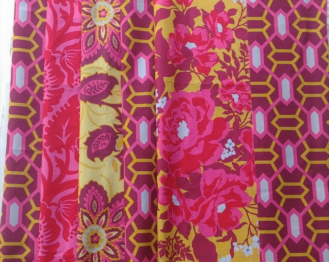 Remnants Joel Dewberry Heirloom fabric Ruby palette, SBJD06