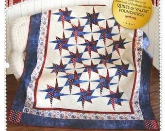 SALE Patriotic Starry Path Quilt Pattern