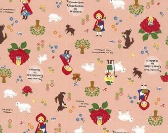 November Books KOKKA fabric - Red Hood K400A coral peach - 1/2 yard
