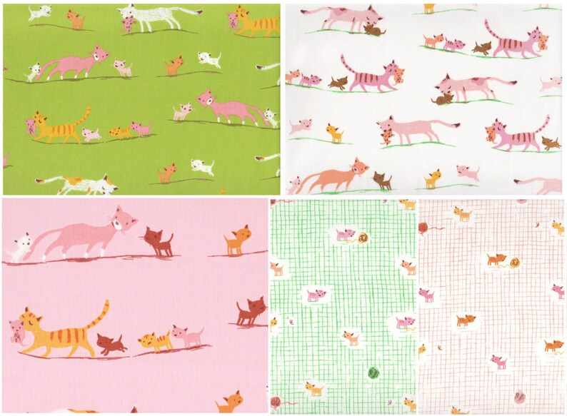 Cats//Kittens The Craft Cotton Company 100/% Cotton Fat Quarter Bundle