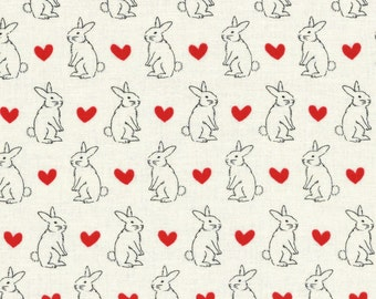 1.4 yards Bunny L49181-10 White, 52 inches - Radiant Girl Fabric by Lecien - last one