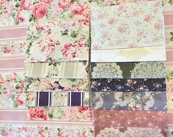 Quilt Gate cotton fabric pack - PRIMA FLORAL  - 4 fat quarters, Choose a bundle