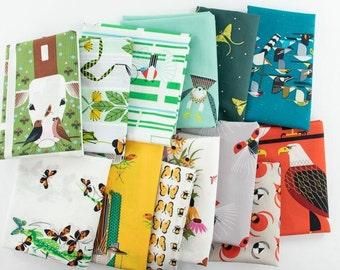 Charley Harper SUMMER VOL.2  - GOTS certified organic cotton fabric bundle, 13 fat quarter cuts