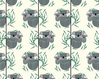 Charley Harper Fabric - Koala Koala Poplin CH-81