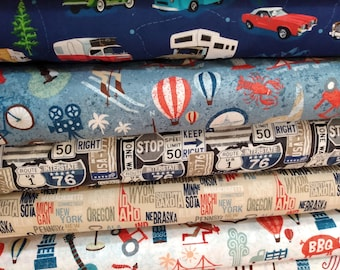 American Road Trip/Across the USA by Whistler Studios for Windham Fabrics - select a length