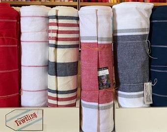 "Moda Stripes 16"" Wide toweling - by the yard - Farmhouse Urban Modern chic"