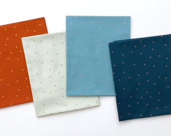 Rise, Melody Miller - Ruby Star Society Fabric Cotton, Metallic SPARK RS0005 Mini Bundle, 4 pieces