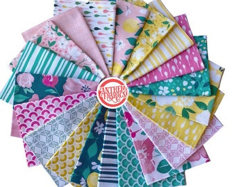 PINK LEMONADE - 20 fat quarters, by Tessie Fay - cotton quilting fabric bundle