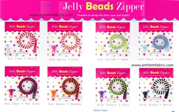 Zipper Jelly Bead 31In Purple Kiwi