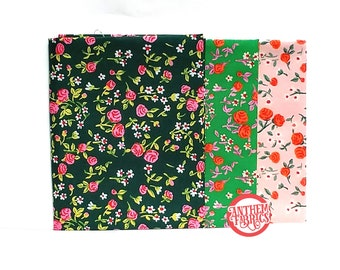 TRIXIE by Heather Ross - Mousies floral cotton fabric - select fat quarter bundle or half-yard cut