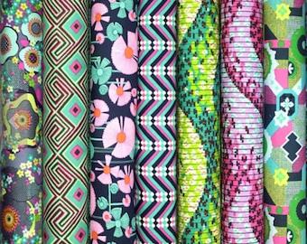 Amy Butler GLOW cotton fabric bundle - fat quarter set of 7