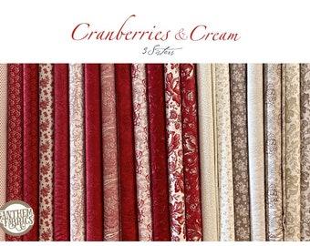 Cranberries Cream MODA Christmas - mini fabric bundle
