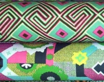 Amy Butler GLOW cotton fabric bundle - half yard cuts, 2 pieces