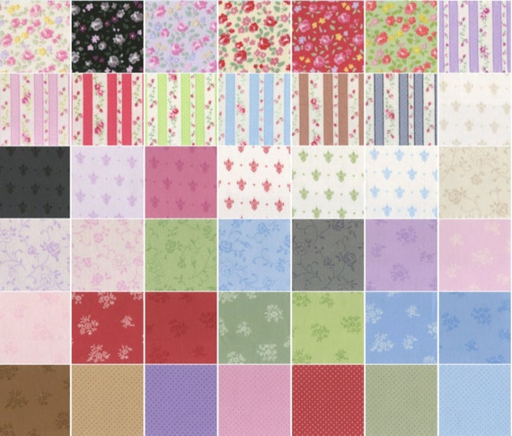 Garden L/'s Modern 42 pieces Layer Cake 10in Cotton Fabric squares LECIEN Origami SP16 Cool set