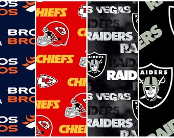 NFL Licensed Fabric - Football AFC Teams - 100% Cotton - select a length
