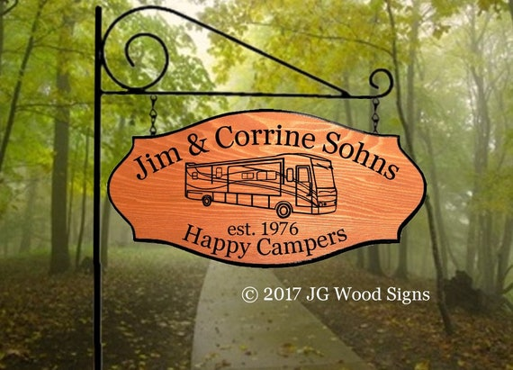 Personalized Sign RV Sign Etsy Add on Sign Cedar Family Camping Sign - w  Sign Holder Option Outdoor Name JG Wood Signs RV Camping Sign Sohn