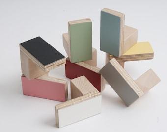 Colours Door Wooden Knobs Rectangular shape