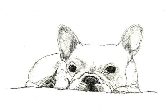 Französische Bulldogge Kunst Kleine Französische Bulldogge Etsy
