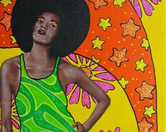 Afro Love original painting