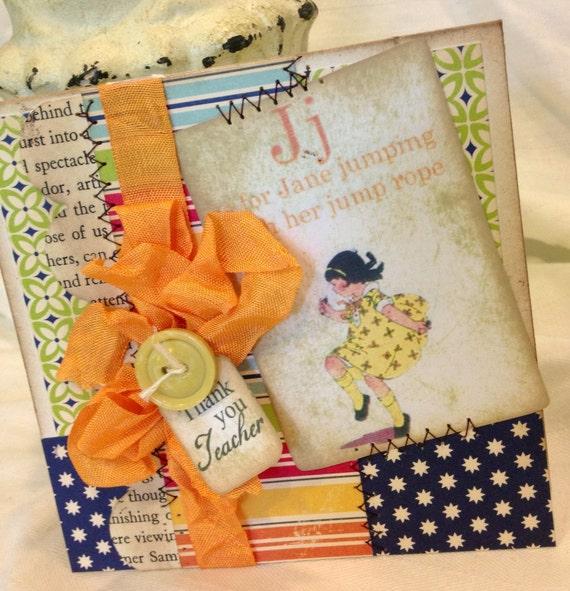 items similar to teacher thank you card handmade thank you